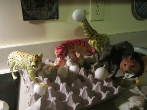 The tiger just saw the butter dish.