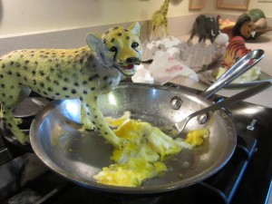 Scrambled eggs taste better.