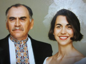 My father and me. 1990