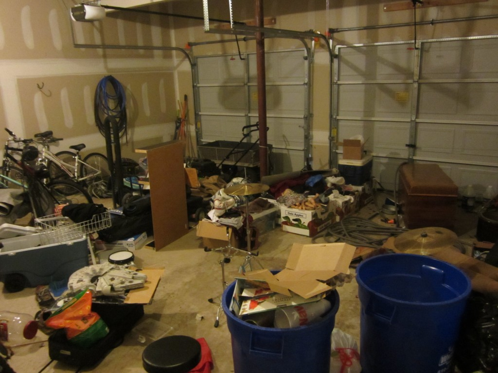 Winter Storm Electra helped me clean out my garage.