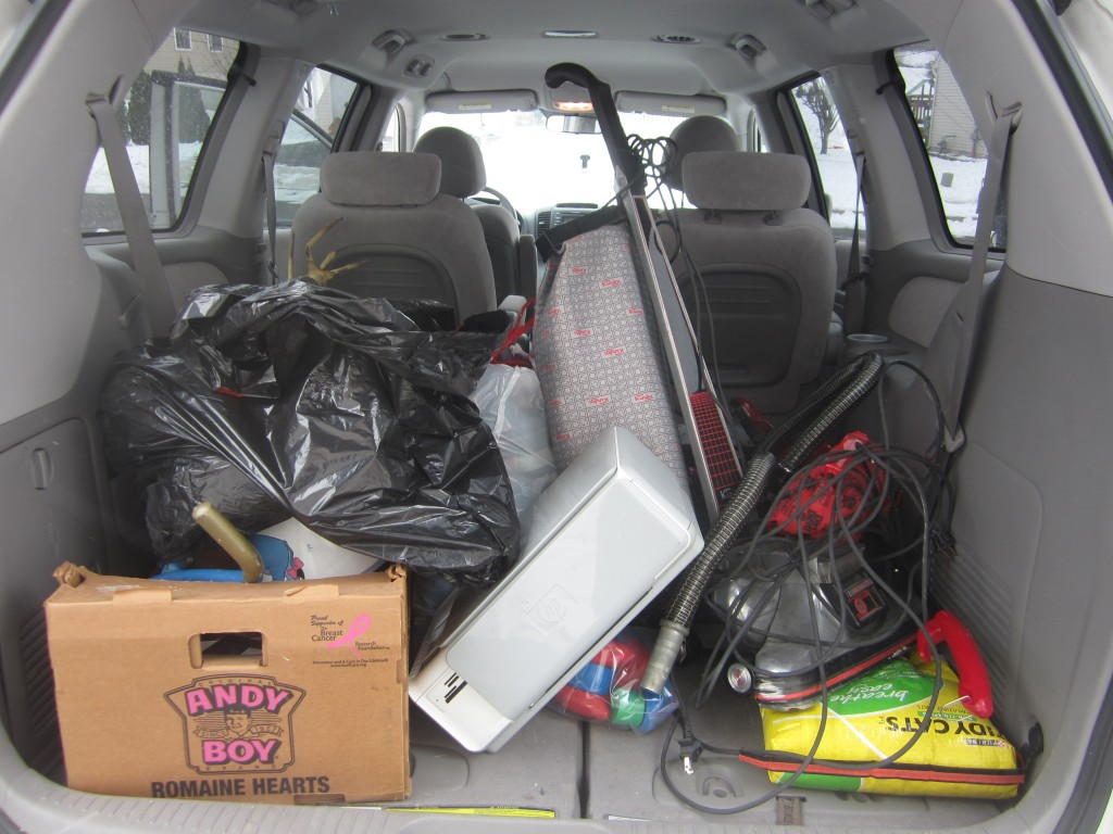 A load of items for the thrift store.