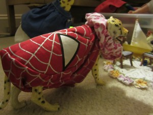 "Willow wants to be ""Spidercheetah"" when she grows up."