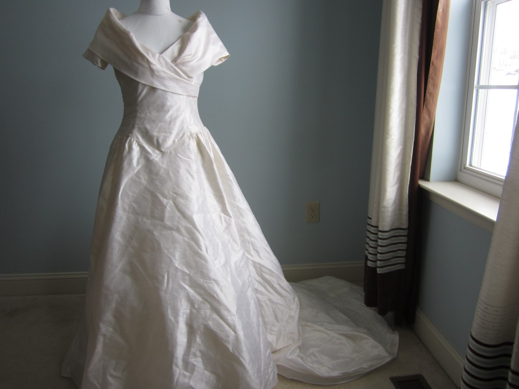 What do you do with an old wedding dress?