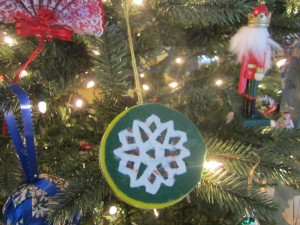 Betsy Hodges made a Christmas tree ornamnet