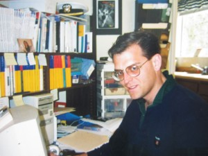 Here is Nick Hodges in 1990 wearing the glasses he had on when I met him.