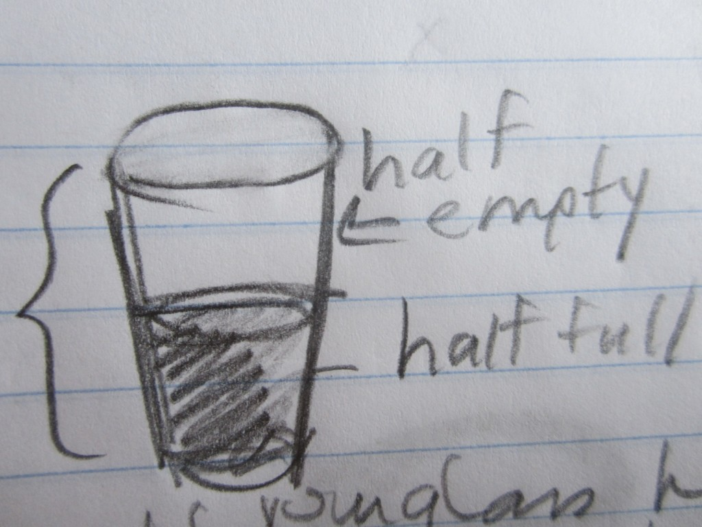 Is your glass half full or half empty?