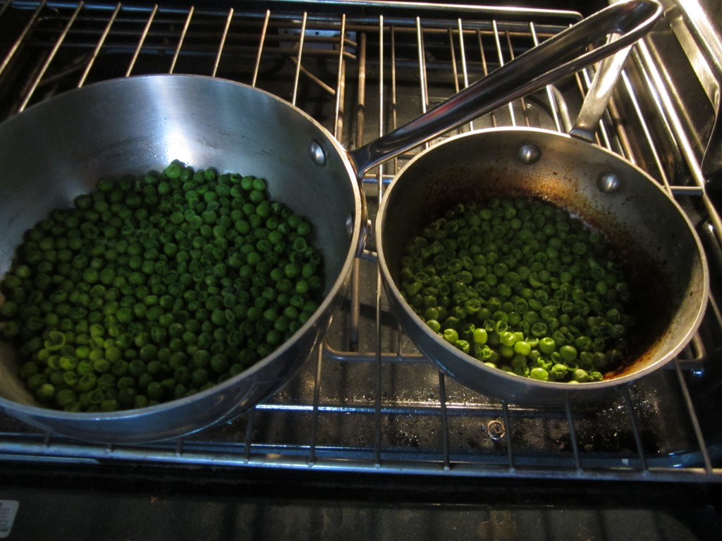 How not to burn a pan of green peas