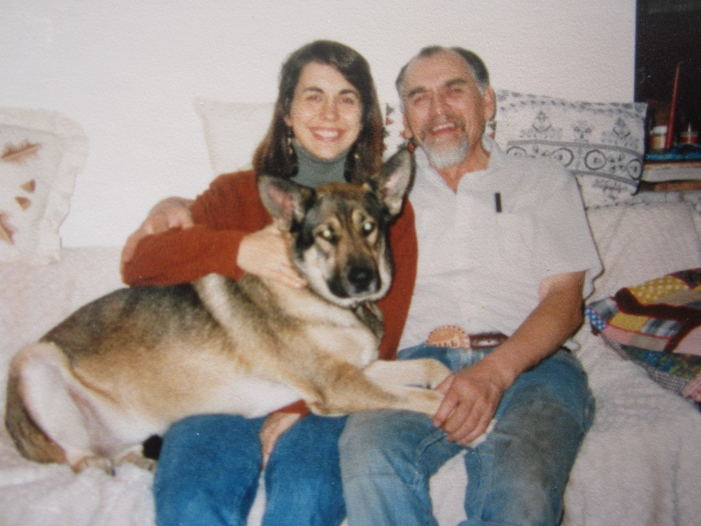 Pamela Hodges, William Fernuik and his dog
