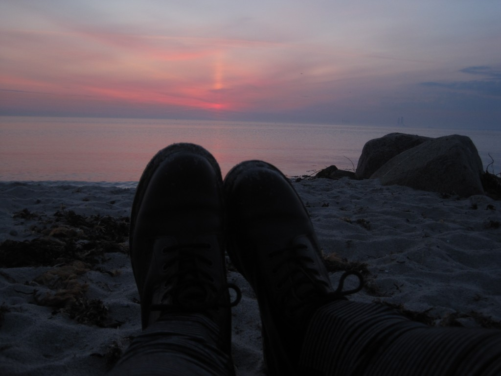 Me and my Doc Martens watching the sun rise in Nyborg, Denmark