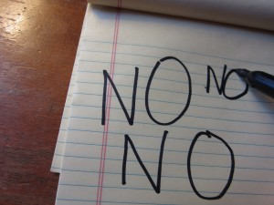 I have to practice saying NO.