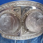 A belt buckle from Edwin John Bodley