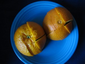 I don't like to share my orange.