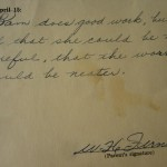 Teachers comment on my report card, 1964