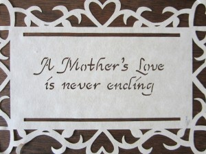 A mother's love is never ending