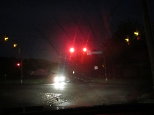 Does stopping for a red light make you mad?