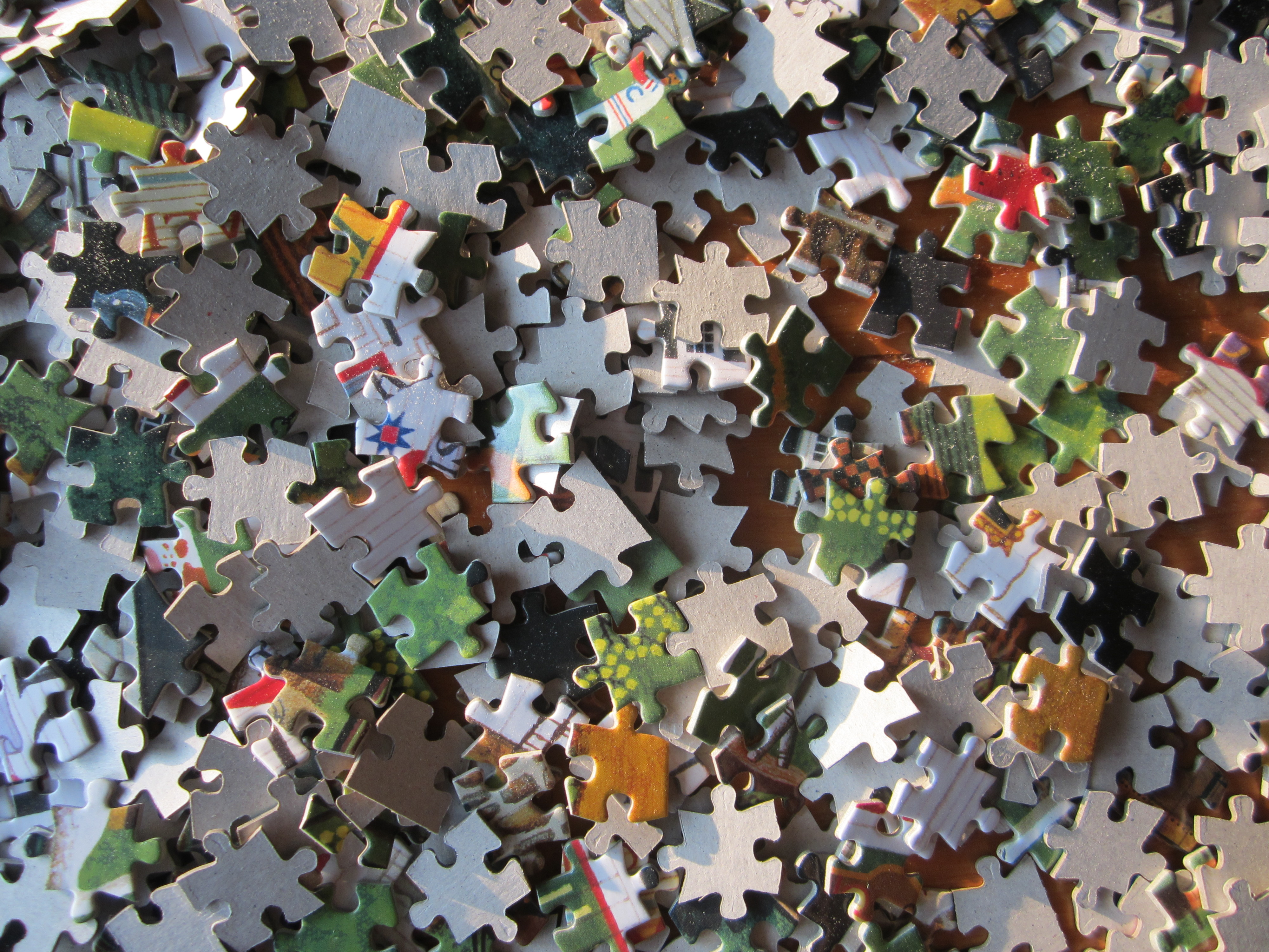 Your dream is like a dumped box of 1,000 puzzle pieces