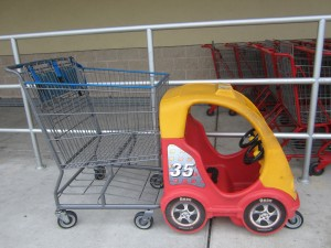 Slow down and use the kiddy cart