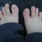 Running outside barefoot in the snow, or how to be known as a crazy neighbor