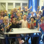 Thank you Dixon Ticonderoga for donating 14 pounds of pencils and markers to a third grade class in Denmark