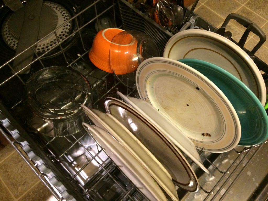 The proper way to load the dishwasher
