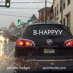B-HAPPYY, a thoughtful message from a license plate