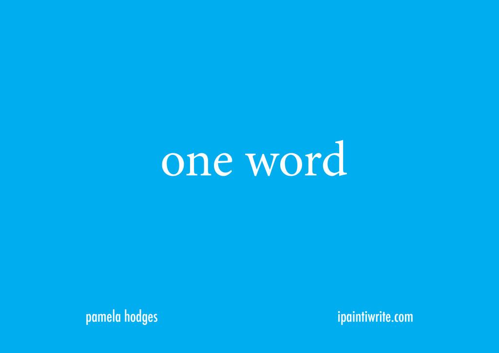 oneword